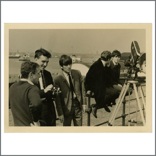 REDUCED! B24117 - The Beatles John, Paul and George 1963 Liverpool Ferry Vintage Photograph (UK)