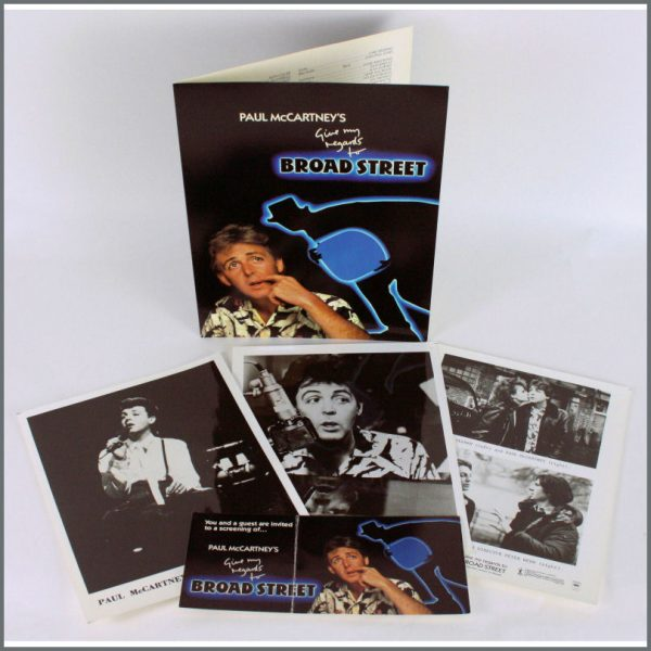 B24131 - Paul McCartney 1984 Give My Regards To Broad Street Promo Folder (USA)