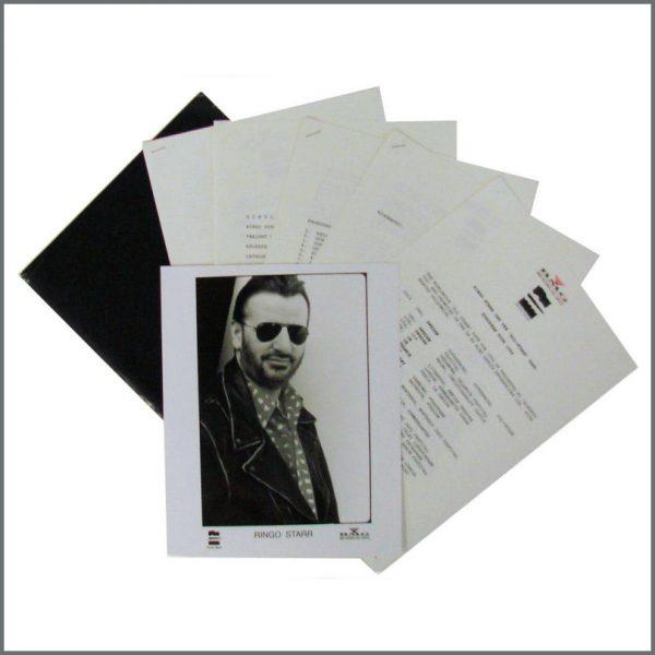 B24136 - Ringo Starr 1992 All Starr European Tour Press Kit (UK)