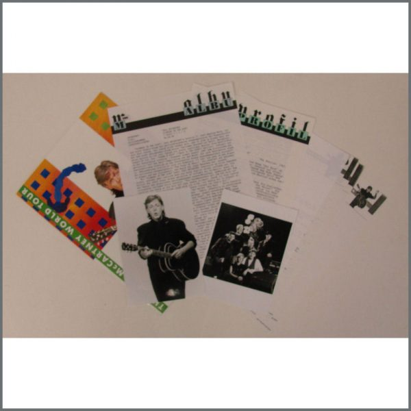 B24137 - Paul McCartney 1989/1990 World Tour Press Kit (USA)