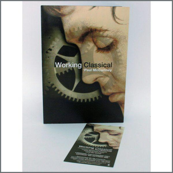 B24210 - Beatles Paul McCartney Working Classical Sales Folder (UK)