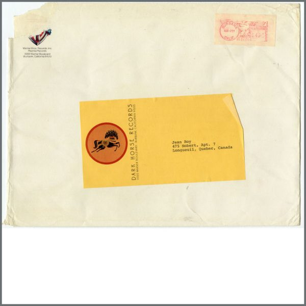 B24247 - George Harrison Dark Horse Records Mailing Sticker (USA)