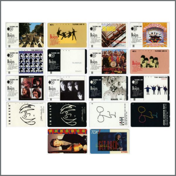 REDUCED! B24276 - Beatles - Solo Telephone Cards Officially Licensed
