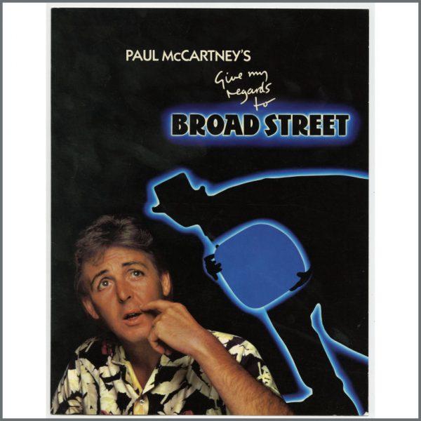 B24281 - Paul McCartney Give My Regards To Broadstreet Promotional Gatefold Flyer (UK)