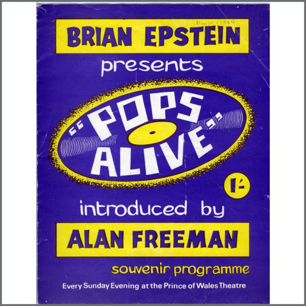 B24290 - The Beatles 1964 Pops Alive UK Concert Programme 1964 (UK)