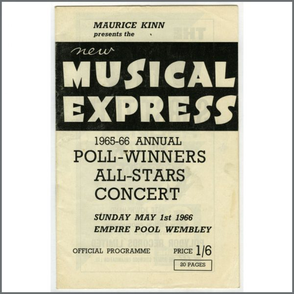 B24461 - The Beatles 1965-66 Wembley NME Pollwinners Concert Programme (UK)