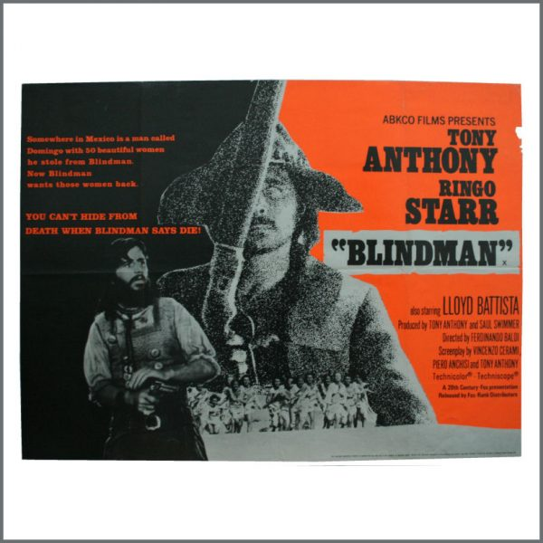 B24505 - Ringo Starr 1971 Blindman Poster (UK)