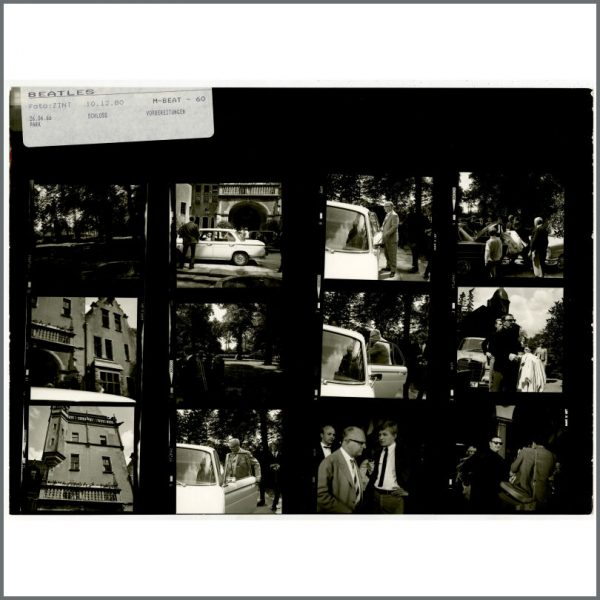 B24523 - The Beatles 1966 Schlosshotel Tremsbuttel Germany Contact Sheets (Germany)