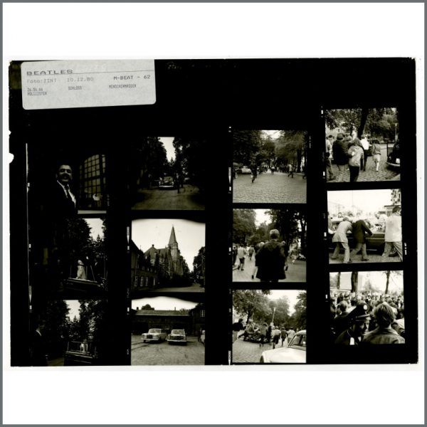 B24523 – The Beatles 1966 Schlosshotel Tremsbuttel Germany Contact Sheets (Germany) 3