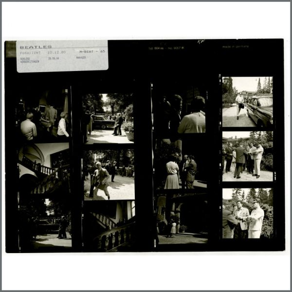 B24523 – The Beatles 1966 Schlosshotel Tremsbuttel Germany Contact Sheets (Germany) 4