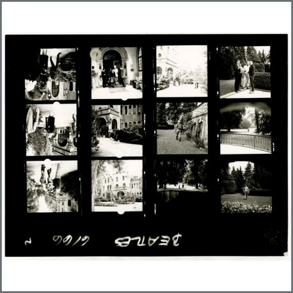 B24530 - The Beatles 1966 Schlosshotel Tremsbuttel Contact Sheets (Germany)