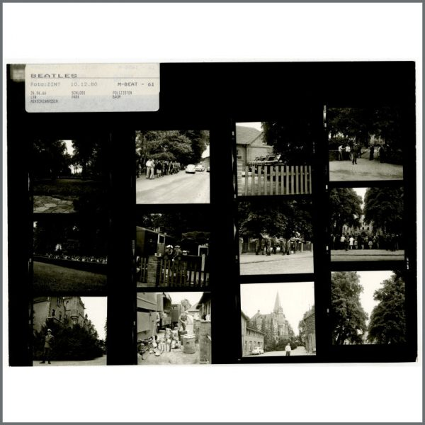 B24530 – The Beatles 1966 Schlosshotel Tremsbuttel Contact Sheets (Germany) 2