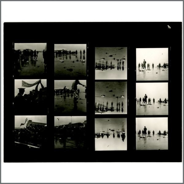 B24531 - The Beatles 1966 Hamburg Fulsbuttel Airport Contact Sheets (Germany)