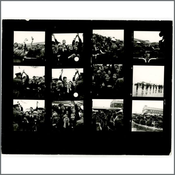 B24531 – The Beatles 1966 Hamburg Fulsbuttel Airport Contact Sheets (Germany) 4