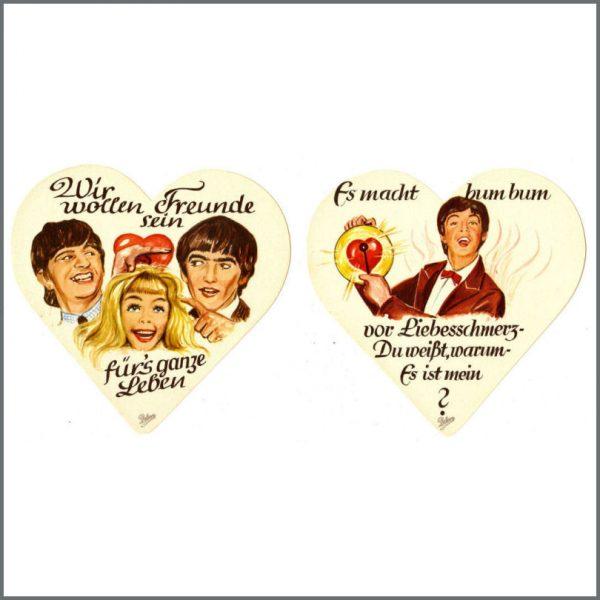 B24544 - The Beatles 1964 Lebkuchen Gingerbread Labels (Germany)