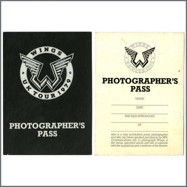 B24546 - Wings 1979 Tour Photographer's Pass (UK)