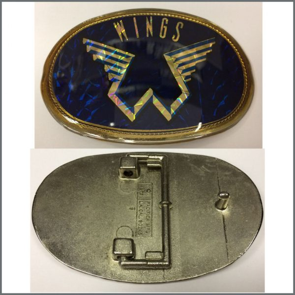 B24750 - Paul McCartney 1977 Wings Belt Buckle (USA)