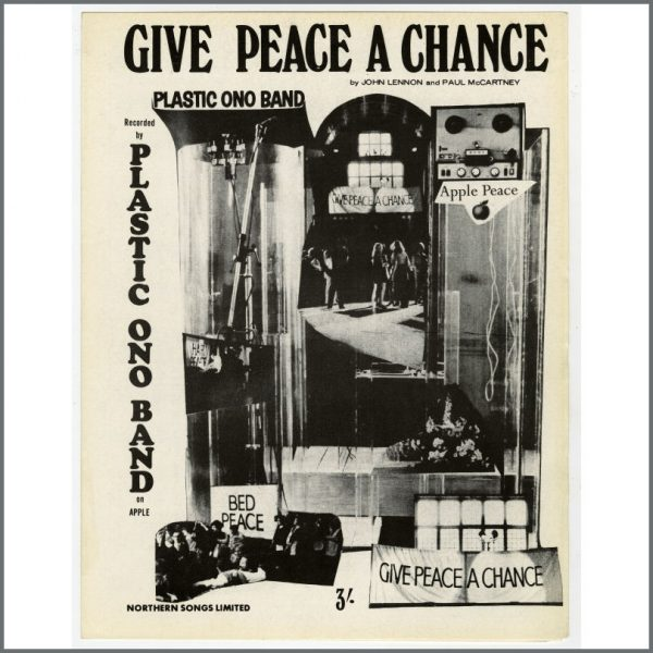 B24814 - Plastic Ono Band 1969 Give Peace A Chance Northern Songs Sheet Music (UK)