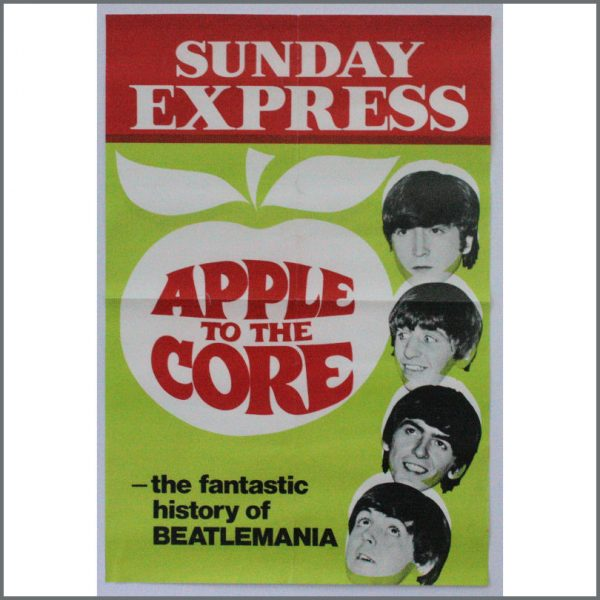 B24842 - The Beatles 1972 Apple To The Core Sunday Express Poster (UK)