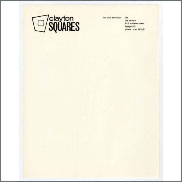 B24861 - Bob Wooler 1960s Clayton Squares Cavern Club Letterhead (UK)
