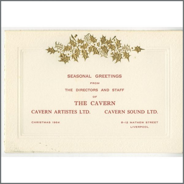 B24863 - Bob Wooler 1964 Cavern Club Christmas Card (UK)