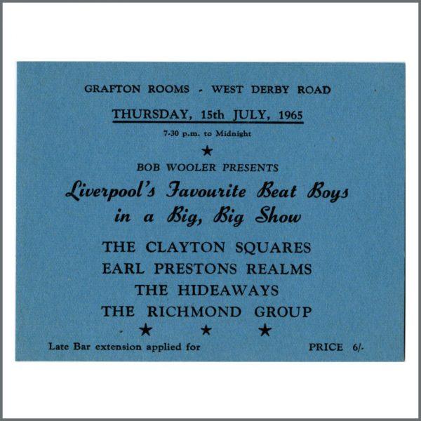 B24870 - Bob Wooler 1965 Liverpool Beat Boys Grafton Rooms Concert Ticket (UK)