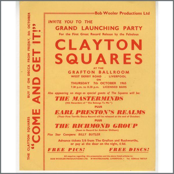 B24877 - Bob Wooler 1965 Clayton Squares Grafton Ballroom Handbill (UK)