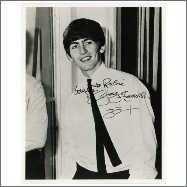 B24912 - George Harrison 1990s Signed 1963 Photograph (UK)