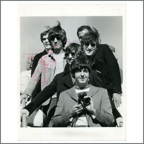 B24914 - The Beatles 1966 San Francisco Airport Jim Marshall Vintage Photograph (USA)
