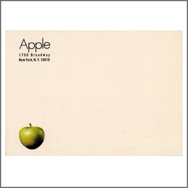 B24926 - Apple 1970s Compliments Slip (USA)