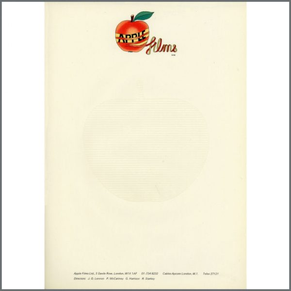 B24927 - Apple Films 1970s Letterhead (UK)