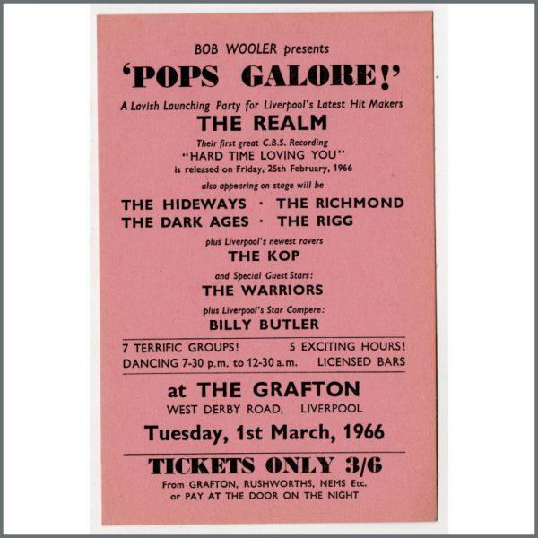 B24944 - Bob Wooler 1966 Pops Galore Grafton Ballroom Concert Handbill (UK)