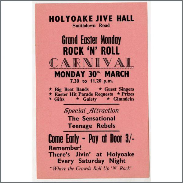 B24950 - Bob Wooler 1964 Rock 'N Roll Carnival Holyoake Jive Hall Concert Handbill (UK)