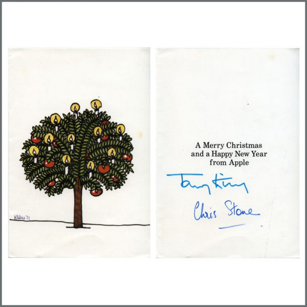 B24958 - The Beatles 1971 Apple Records Christmas Card