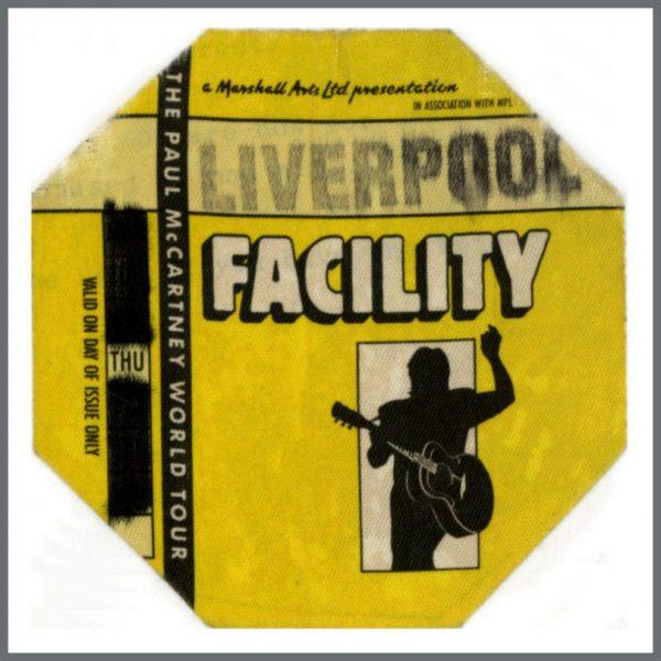 B25026 - Paul McCartney 1990 Liverpool Backstage Pass (UK)
