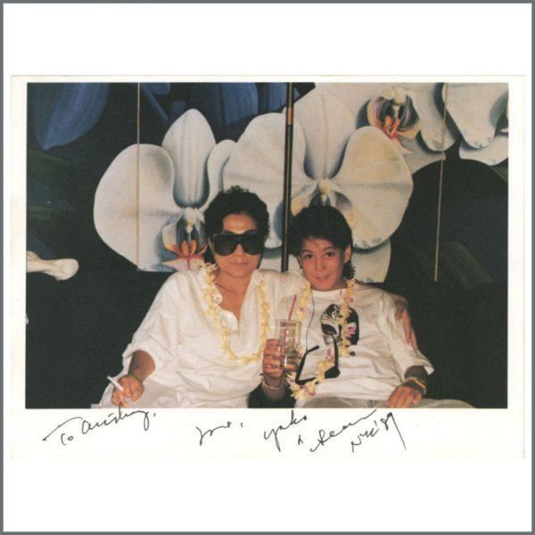 B25036 - Yoko Ono 1989 Signed Promotional Card (USA)