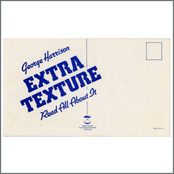 B25075 - George Harrison 1975 Extra Texture Promotional Card (Canada)