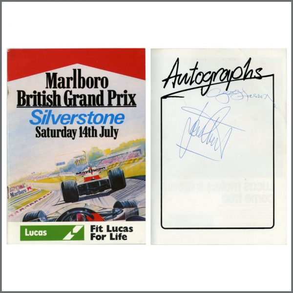 B25086 - George Harrison And Jackie Stewart 1979 Autographed Formula One Programme (UK)