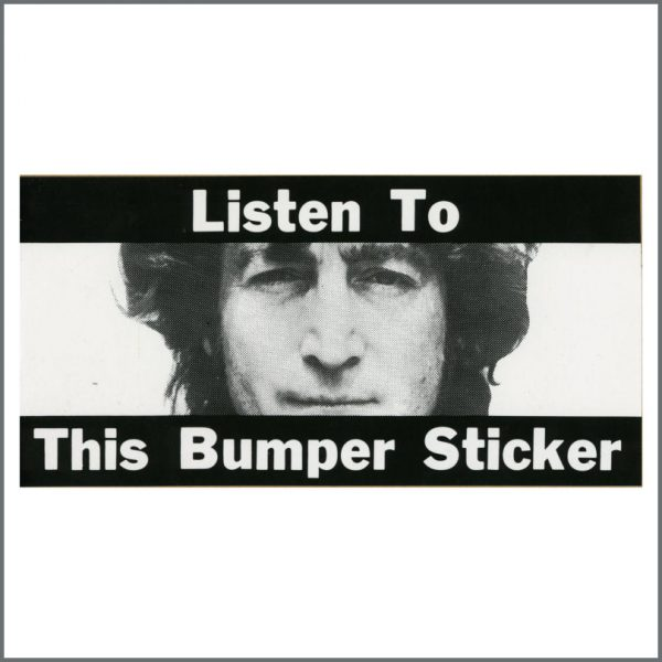 B25090 - John Lennon Walls And Bridges Promotional Sticker (USA)