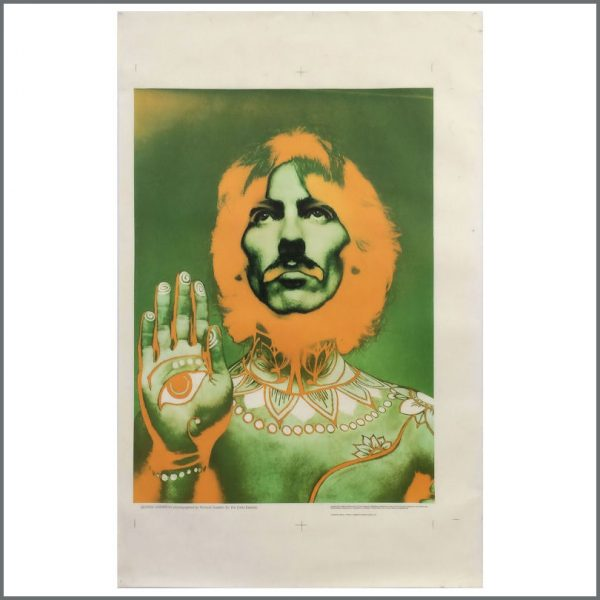 B25118 - George Harrison 1968 Richard Avedon Printers Proof Poster (UK)