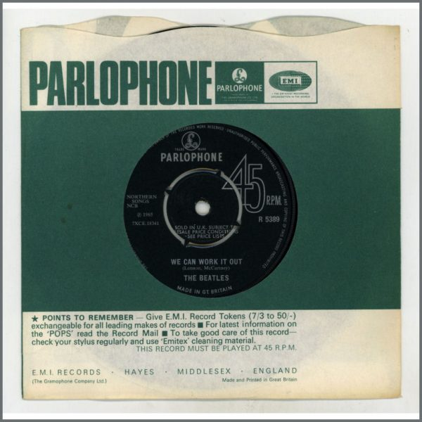 B25268 - The Beatles 1965 We Can Work It Out / Day Tripper 7 Inch Single (UK)