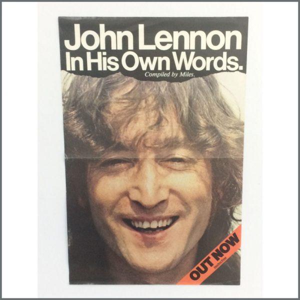 B25271 - John Lennon 1995 In His Own Words Promotional Poster (UK)