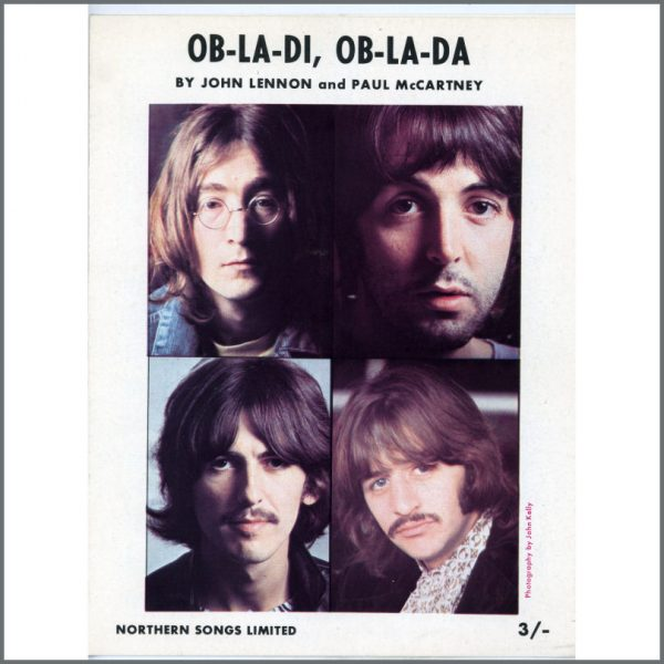 B25274 - The Beatles Ob-La-Di, Ob-La-Da Northern Songs Sheet Music (UK)