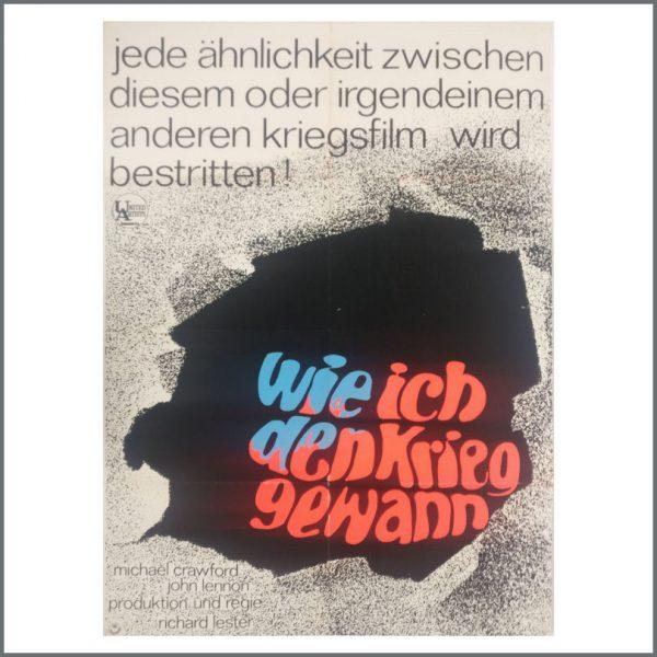 B25299 - John Lennon 1968 How I Won The War Film Promotional Poster (Germany)