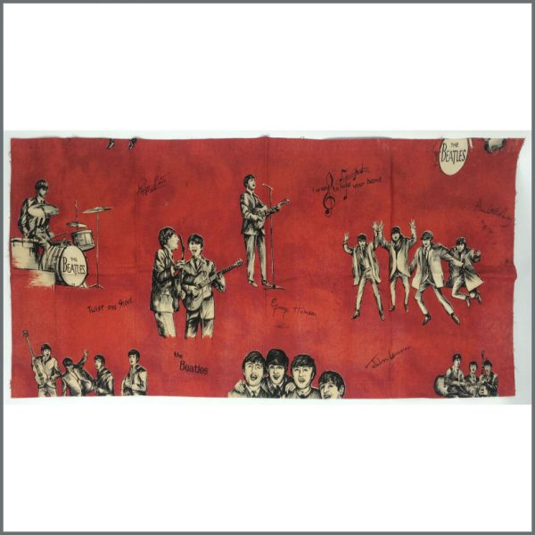 B25322 - The Beatles 1960s Red Curtain Material (Holland)