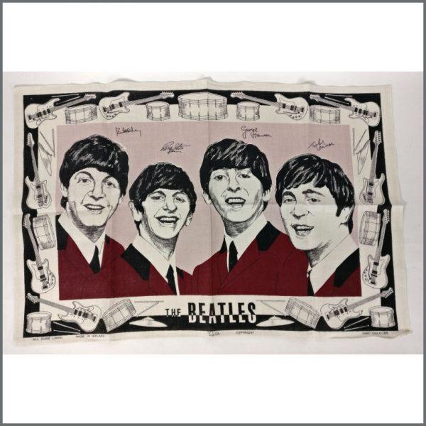 B25345 - The Beatles 1960s Unused Tea Towel (UK)