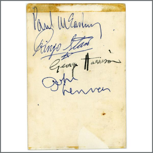 B25368 - The Beatles 1963 Darwen Autographs (UK)