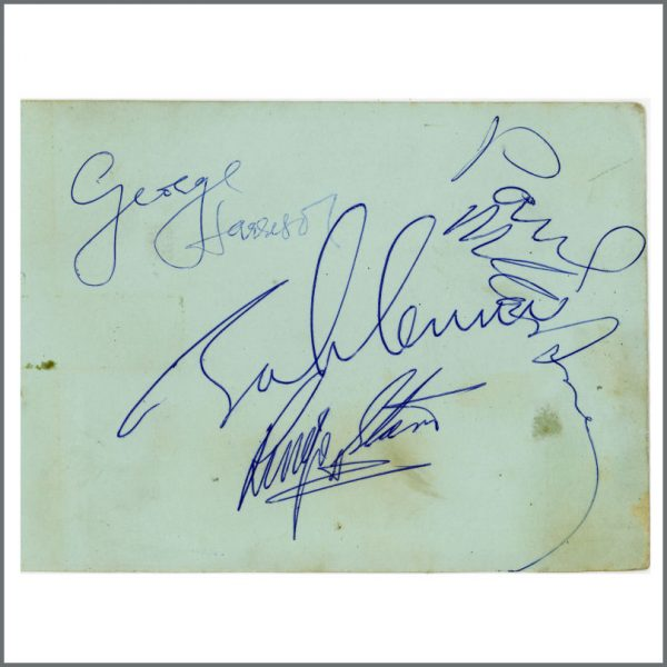 B25369 - The Beatles 1964 A Hard Day's Night Autographs (UK)