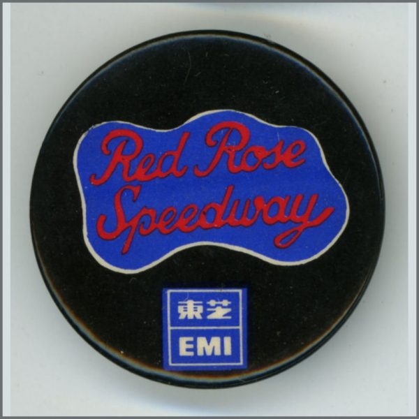 B25377 - Paul McCartney And Wings 1973 Red Rose Speedway Badge (Japan)