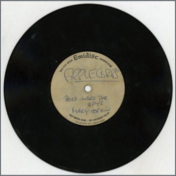B25402 - Mary Hopkin 1968 Those Were The Days Emidisc Acetate (UK)
